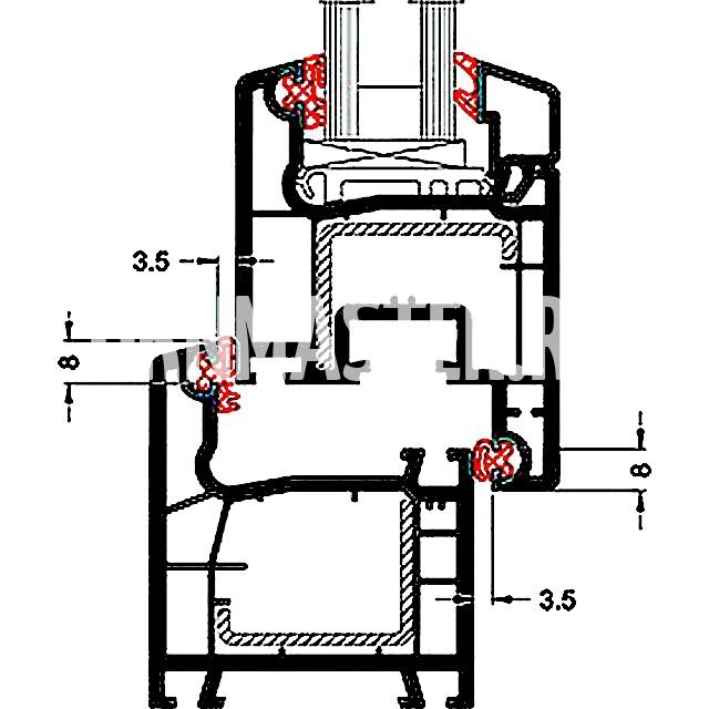 Место установки уплотнителя