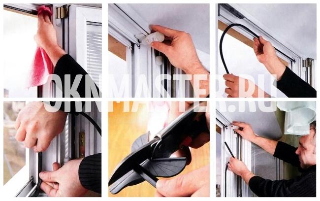 Поменять уплотнитель в пластиковом окне