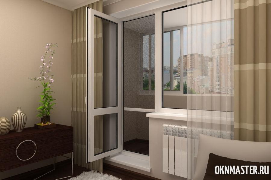 Балконная дверь без с перемычкой