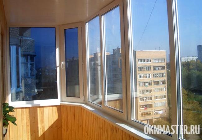 Остекление ПВХ для балкона
