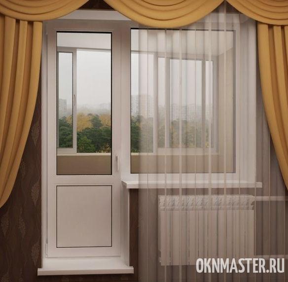 Дверь балконная с нижней глухой