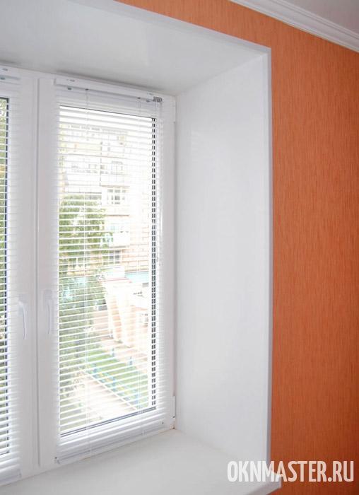 Отделка откосов окна