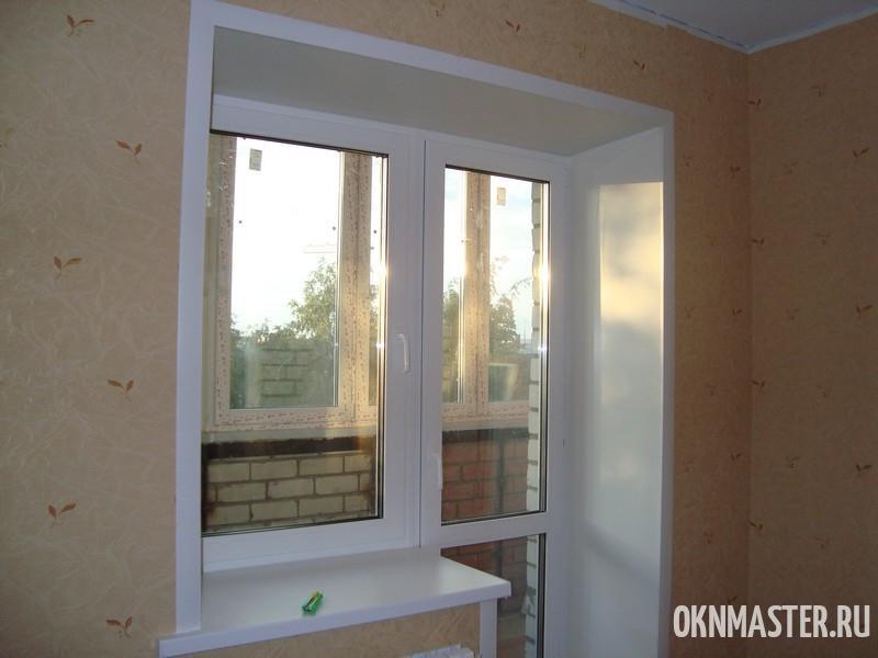 Откосы балконной двери