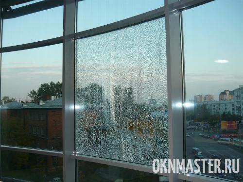 Замена разбитых стеклопакетов