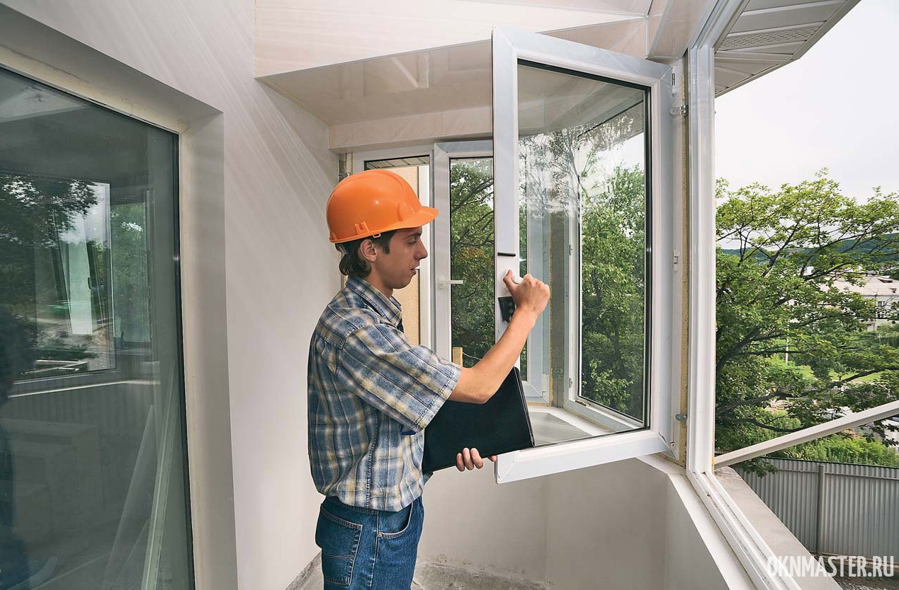 Монтаж балконной рамы ПВХ