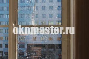 Требуется замена стеклопакета и ремонт окна